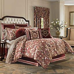 J. Queen New York Rosewood Comforter Set in Burgundy