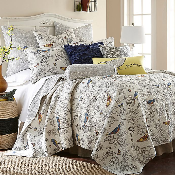 Alternate image 1 for Levtex Home Clea Full/Queen Quilt Set in Grey