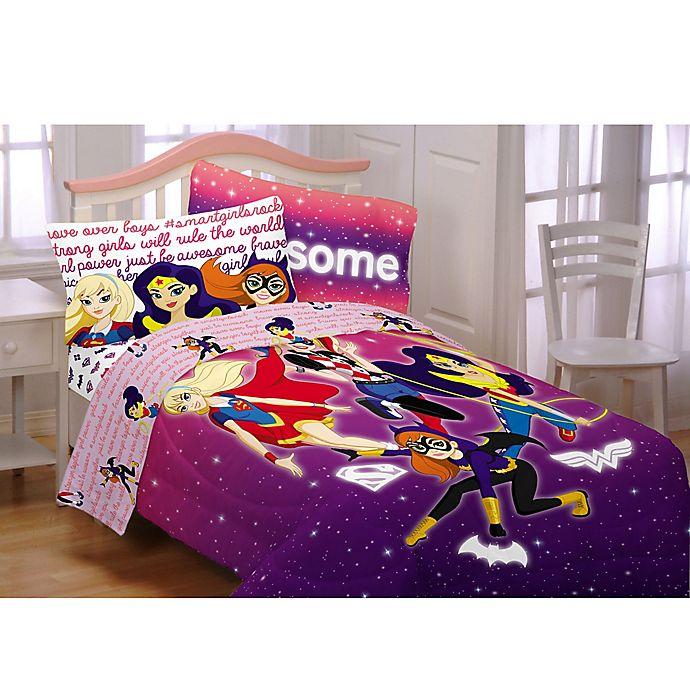 Alternate image 1 for DC Comics™ Super Hero Girls Cosmic Comforter Set in Purple