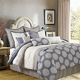 Nanshing Dante 10-Piece Reversible Comforter Set in Beige/Grey