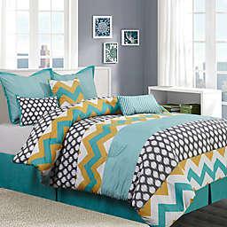 Nanshing Nolan 7-Piece Comforter Set in Blue/Yellow