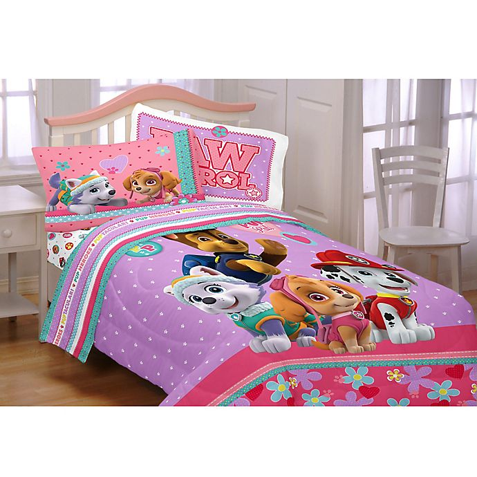 Alternate image 1 for Paw Patrol Pals 5-Piece Full Comforter Set in Pink