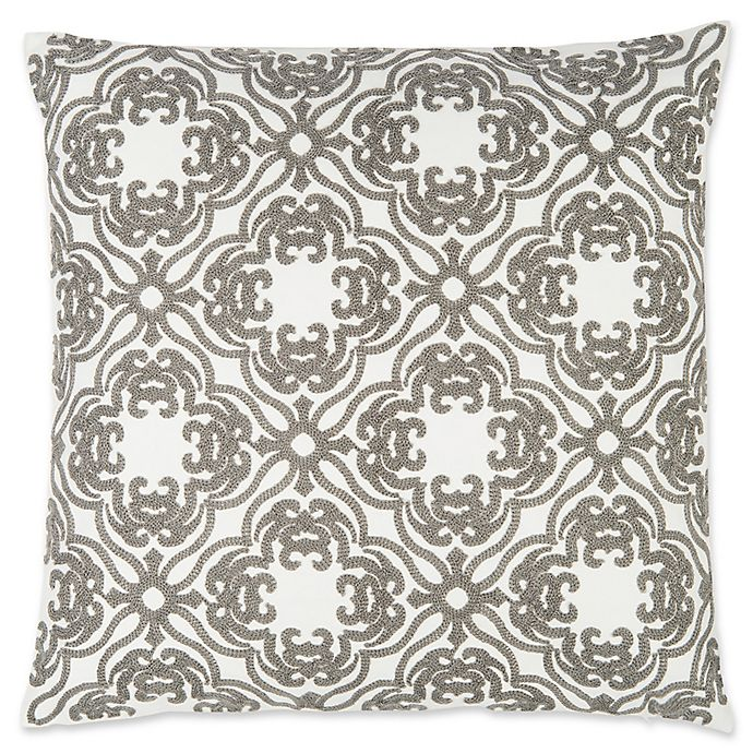 Alternate image 1 for Levtex Home Clea Towel Stitch Square Throw Pillow in Grey