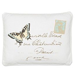 Levtex Home Victoria Butterfly Oblong Throw Pillow in White