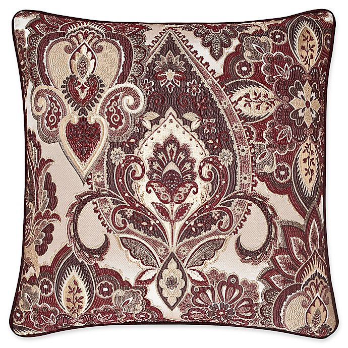 Brilliant J Queen New York Rosewood 20 Inch Square Throw Pillow In Creativecarmelina Interior Chair Design Creativecarmelinacom