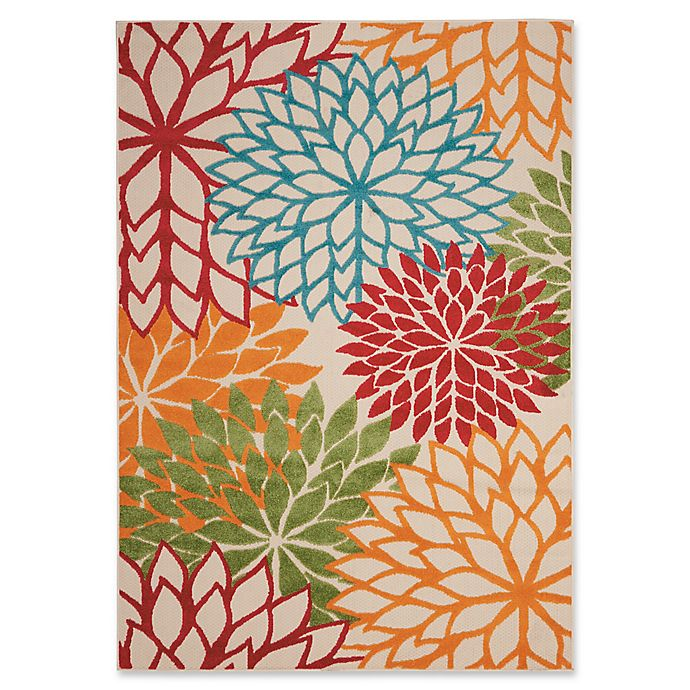 Alternate image 1 for Nourison Aloha Floral Burst Indoor/Outdoor Area Rug
