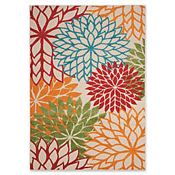 Nourison Aloha Fl Burst Indoor Outdoor Area Rug