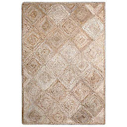 Jute Diamond 3-Foot x 5-Foot Accent Rug in Natural