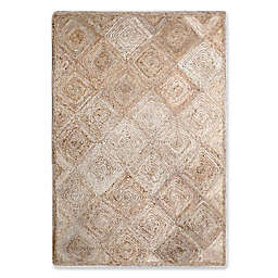 Jute Diamond Rug in Natural