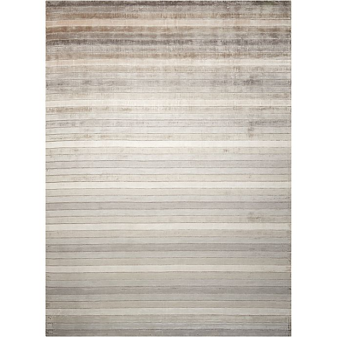Alternate image 1 for Nourison Aura 4' x 6' Hand Loom Woven Area Rug in Silver Shadow