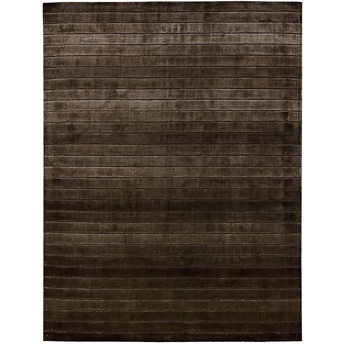Alternate image 1 for Nourison Aura 8' x 11' Hand Loom Woven Area Rug in Chocolate