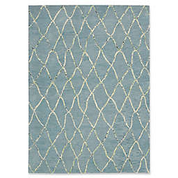 Barclay Butera Intermix Wave Area Rug in Blue
