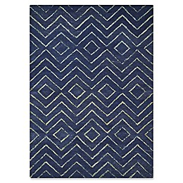 Barclay Butera Intermix Storm Rug in Dark Blue