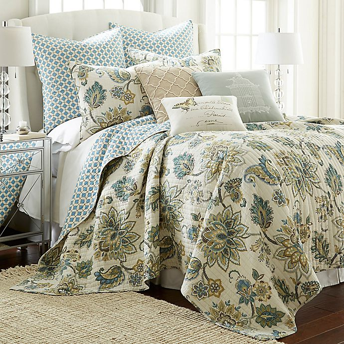 Alternate image 1 for Levtex Home Victoria Reversible Twin Quilt Set in Grey