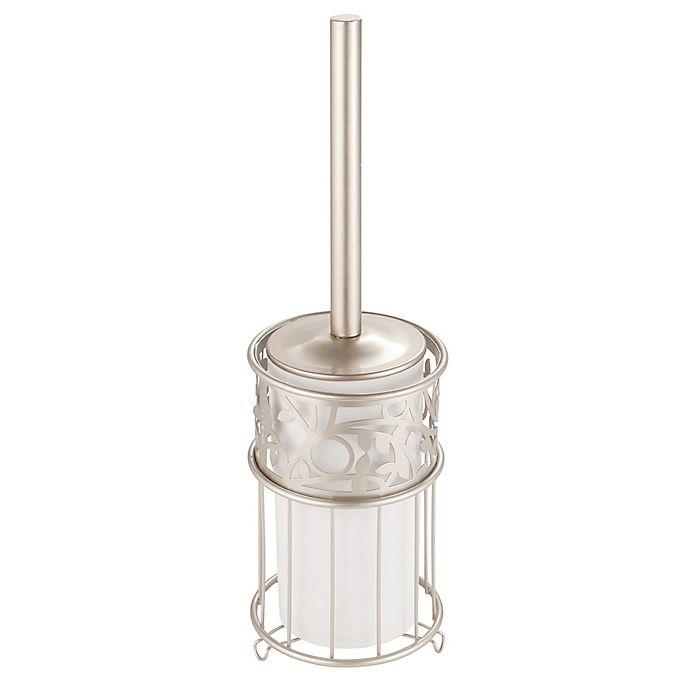 Alternate image 1 for iDesign® Vine 2-Piece Toilet Brush and Brush Holder Set in Satin