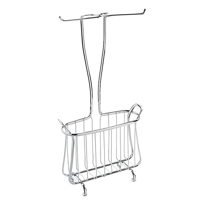 Idesign Axis Toilet Paper Holder And Magazine Rack