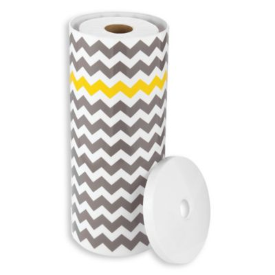 Idesign 3 Roll Standing Toilet Paper Holder In Grey Yellow Bed Bath And Beyond Canada