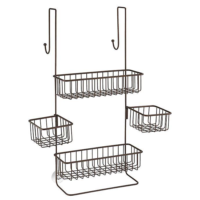 Alternate image 1 for iDesign® Metalo Over-the-Door Shower Caddy in Bronze
