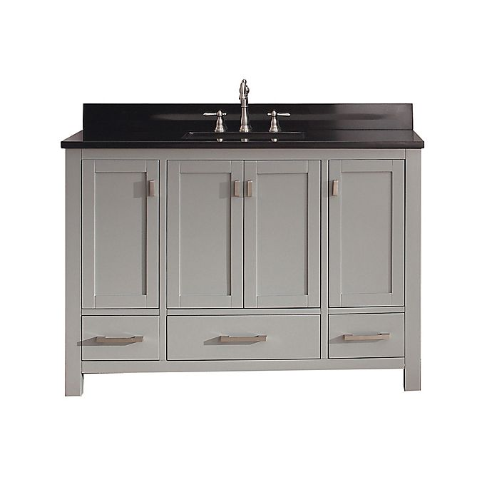 Alternate image 1 for Avanity Modero 49-Inch Vanity Combo in Grey/Black