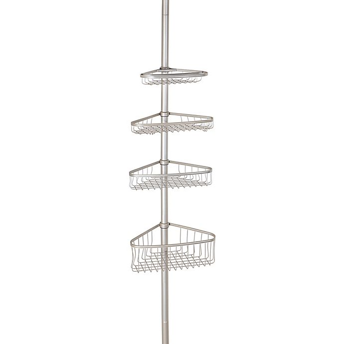 Alternate image 1 for iDesign® York Constant Tension Corner Shower Caddy