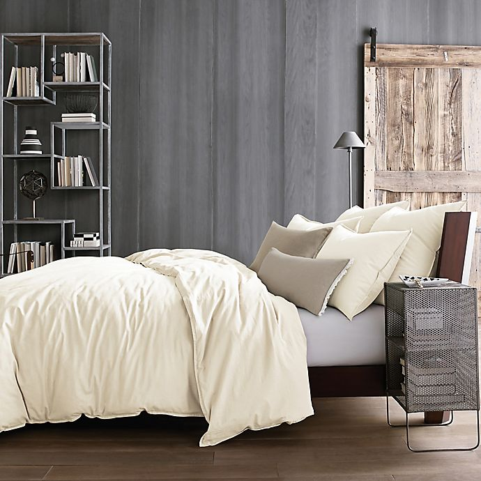 Alternate image 1 for Kenneth Cole Reaction Home Mineral Full/Queen  Duvet Cover in Ivory
