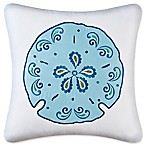 Imperial Coast Sand Dollar Square Throw Pillow