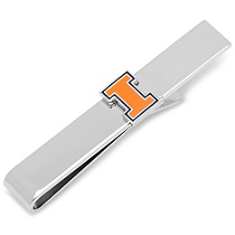 University of Illinois Silver-Plated and Enamel Tie Bar