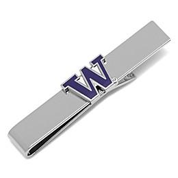 University of Washington Silver-Plated and Enamel Tie Bar