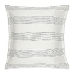 Kassatex Amagansett European Pillow Sham in White/Indigo