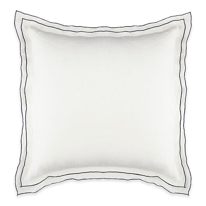 Alternate image 1 for Kassatex Biarritz European Pillow Sham in White/Indigo