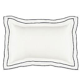 Kassatex Biarritz Boudior Throw Pillow in White/Indigo