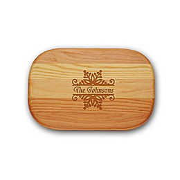 Carved Solutions Everyday Collection Snowflake 10-Inch x 7-Inch Cutting Board