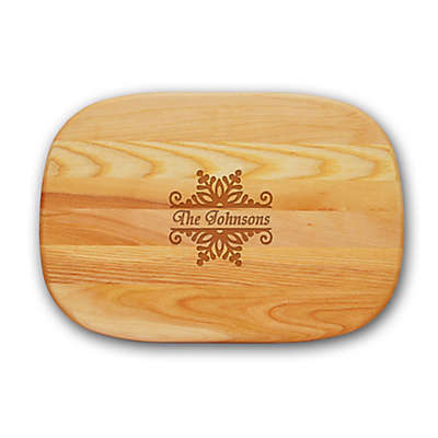 Carved Solutions Snowflake Everyday Collection 10-Inch x 15-Inch Medium Cutting Board