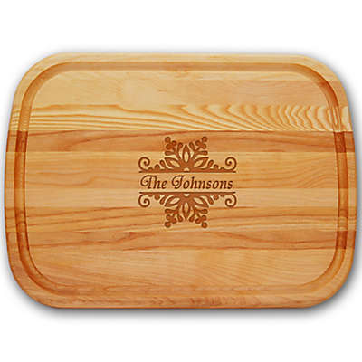 Carved Solutions Snowflake Everyday Collection 21-Inch x 15-Inch Large Cutting Board