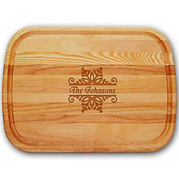 Carved Solutions Everyday Collection Snowflake 21-Inch x 15-Inch Cutting Board