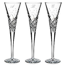 Waterford® Wishes Happy Celebrations Script Letter Monogram Toasting Flutes (Set of 2)