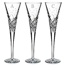 Waterford® Wishes Happy Celebrations Block Letter Monogram Toasting Flutes (Set of 2)