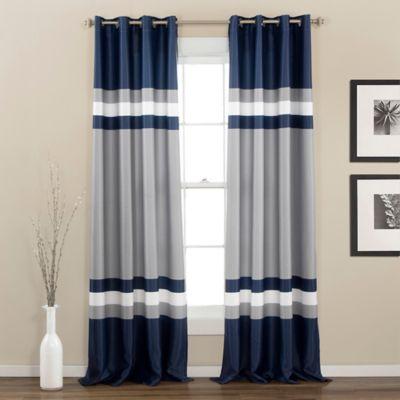 Alexander 84-Inch Room Darkening Top Window Curtain Panel Pair in