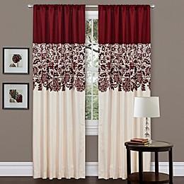 Estate Garden 84-Inch Rod Pocket Window Curtain Panel in Red