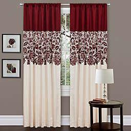 Estate Garden 84-Inch Rod Pocket Window Curtain Panel in Red (Single)