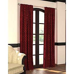 Designers' Select™ 84-Inch Emerson Rod Pocket/Back Tab Window Curtain Panel in Merlot (Single)