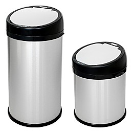 halo™ Stainless Steel Extra-Wide Round Sensor Trash Can