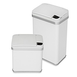 halo™ Multifunction Sensor Trash Can in White
