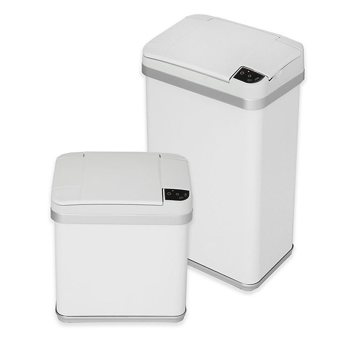 Alternate image 1 for halo™ Multifunction Sensor Trash Can in White