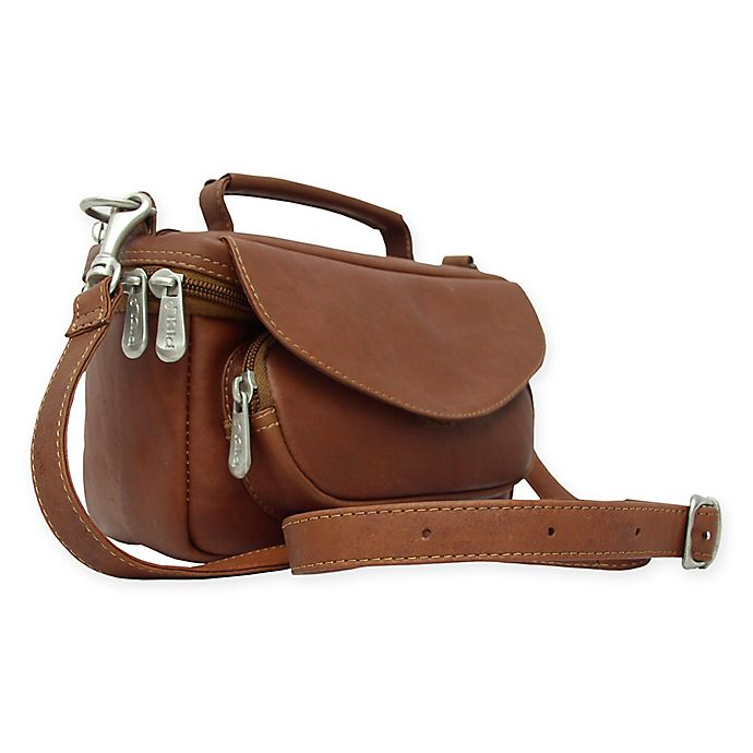 Alternate image 1 for Piel® Leather Deluxe Carry-All Camera Bag in Saddle