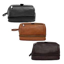 Piel® Leather 10-Inch Classic U-Frame Utility Kit with Zip Bottom
