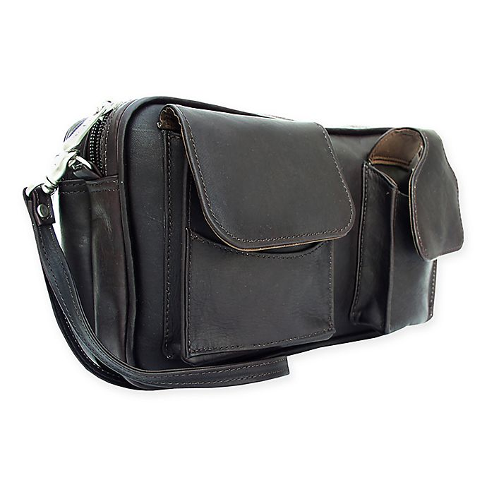 Alternate image 1 for Piel® Leather 9.5-Inch Classic Carry-All Bag in Chocolate
