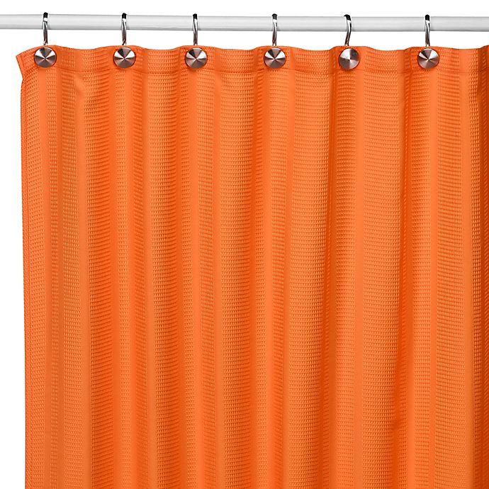 Alternate image 1 for Weston Orange Fabric Shower Curtain