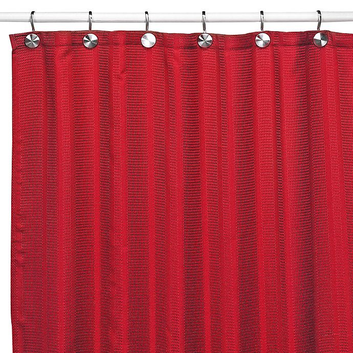 Alternate image 1 for Westerly Red Fabric Shower Curtain