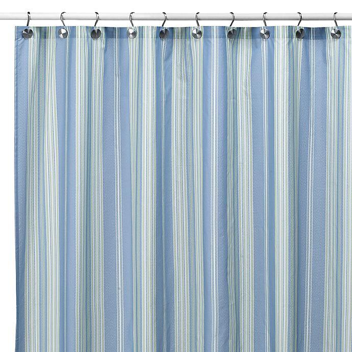 Baja Stripe Cape Cod 72 Inch X Fabric Shower Curtain